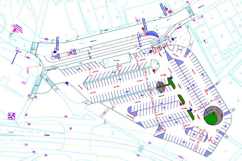 6f347a883c Návrh nového vjazdu na parkovisko na Nálepkovej ulici zruší nevyužívané  parkovanie pre taxikárov. © VG Projekt